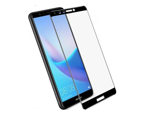Защитное стекло для Huawei Y9 2018 3D черное