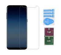 Защитное стекло для Samsung Galaxy A7 2018 (вид - 2.5D, в комплекте салфетка и стикер)
