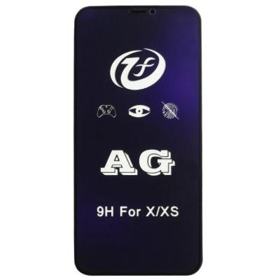 Защитное 5D стекло для iPhone Xs матовое с антибликовым эффектом