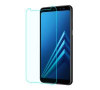 Защитное стекло для Samsung Galaxy J4 Plus 2018 (вид - 2.5D, комплектация эконом)