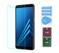 Защитное стекло для Samsung Galaxy J4 Plus 2018 (вид - 2.5D, в комплекте салфетка и стикер)