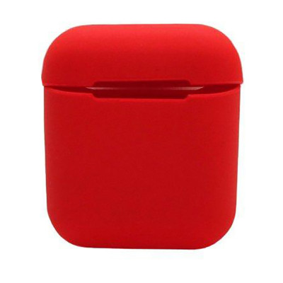 Силиконовый чехол для Airpods Silicon Case красный