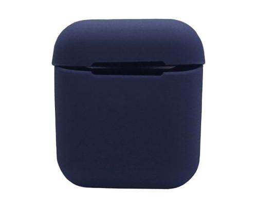 Силиконовый чехол на Airpods Silicon Case темно-синий