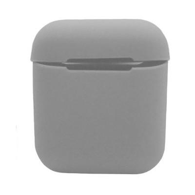 Силиконовый чехол на Airpods Silicon Case светло-серый