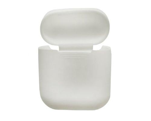 Силиконовый чехол для Airpods Protective Case белый