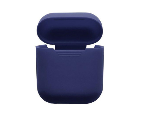 Силиконовый чехол для Airpods Protective Case синий
