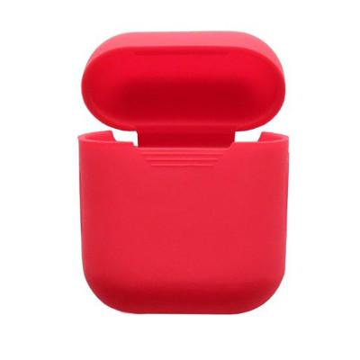 Силиконовый чехол для Airpods Protective Case красный