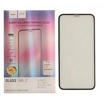 Защитное стекло HOCO для iPhone XR 3D толщина 0.2 мм черное