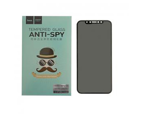 Защитное стекло HOCO для iPhone X 3D антишпион черное