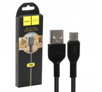 Кабель Hoco X20 Flash USB - microUSB 1 м черный