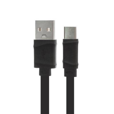 Кабель HOCO X5 Bamboo USB - USB Type-C, 1 м плоский черный