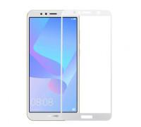 Защитное стекло для Huawei Y6 2018 5D белое