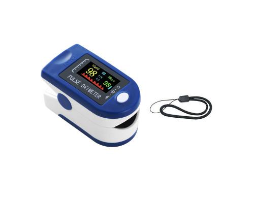 Пульсоксиметр OM-01 на палец для измерений пульса и кислорода в крови