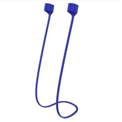 Силиконовый шнурок для Airpods магнитный синий