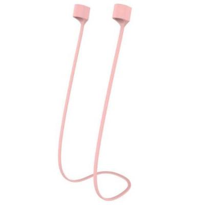 Силиконовый шнурок для Airpods магнитный розовый