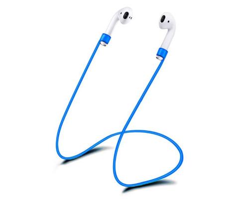 Силиконовый шнурок для Airpods темно-синий