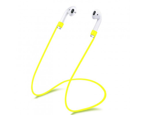 Силиконовый шнурок для Airpods желтый
