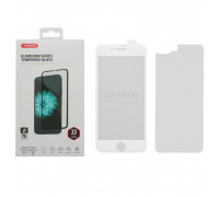 Защитное 3D стекло ANMAC для iPhone 8 Plus белое, дисплей и задняя часть