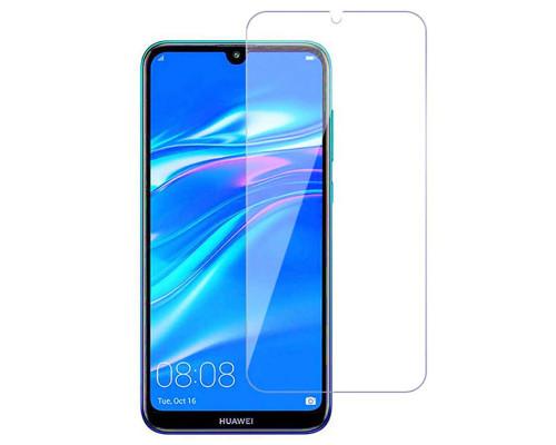 Защитное стекло для Huawei Y5 2019 (вид - 2.5D, в комплекте салфетка и стикер)