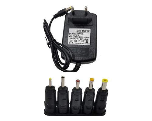 Блок питания 15V 2A 5.5x2.5 с адаптерами