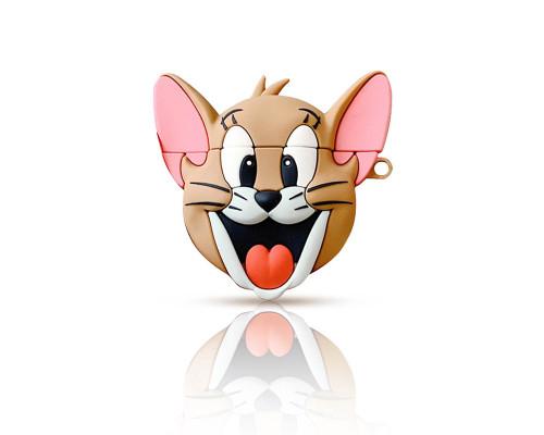 Чехол - кейс силиконовый  для Apple Airpods 2 Джерри с карабином