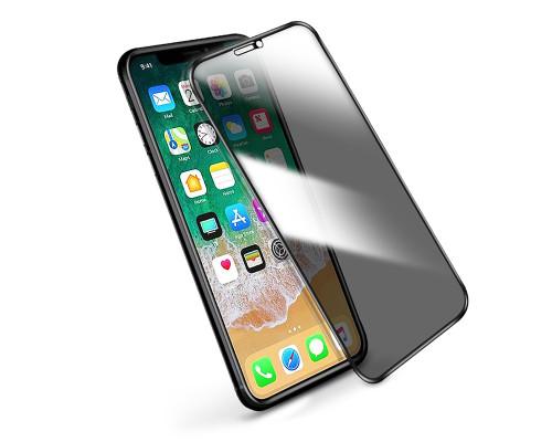 Защитное стекло Baseus для iPhone XR антишпион 5D черное