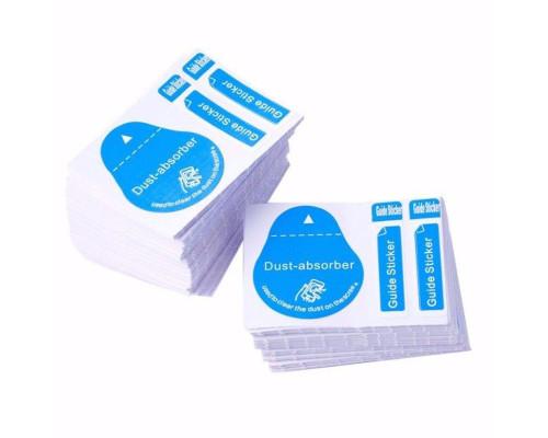 Стикер удаления пыли при приклейки защитного стекла (3 в 1)