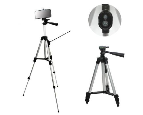 Штатив для камеры и телефона Tripod DK-3888 с Bluetooth кнопкой