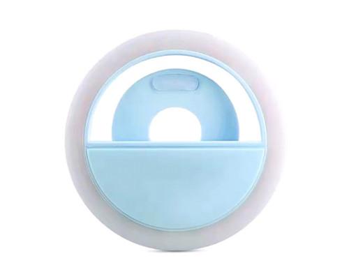 Селфи кольцо Selfie ring light PR-14 голубое