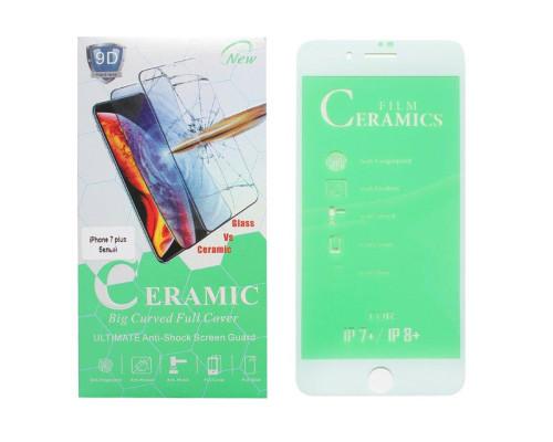 Защитная пленка Ceramics Film для iPhone 7 plus белая