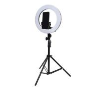Кольцевая светодиодная лампа освещения для профессиональной съемки, селфи лампа с держателем для смартфона, со штативом, диаметр лампы - 34 см