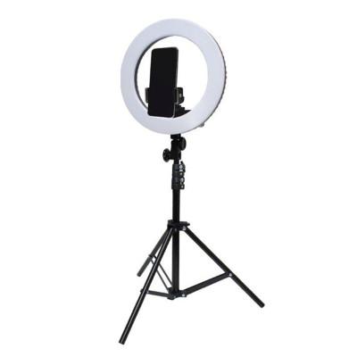 Кольцевая светодиодная лампа освещения для профессиональной съемки, селфи лампа с держателем для смартфона 34 см