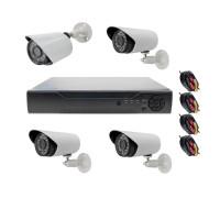 Комплект AHD видеонаблюдения на 4 камеры для улицы 1Mп