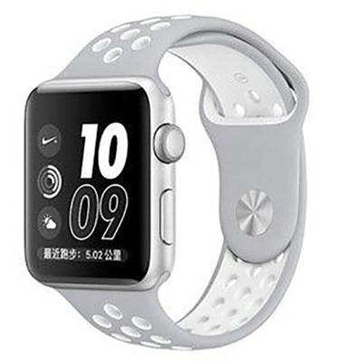 Ремешок для Apple Watch 38 - 40 мм с перфорацией серый