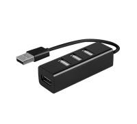 USB-разветвитель на 4 разъема USB 2.0, черный