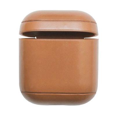 Кожаный чехол для Airpods натуральная кожа хаки