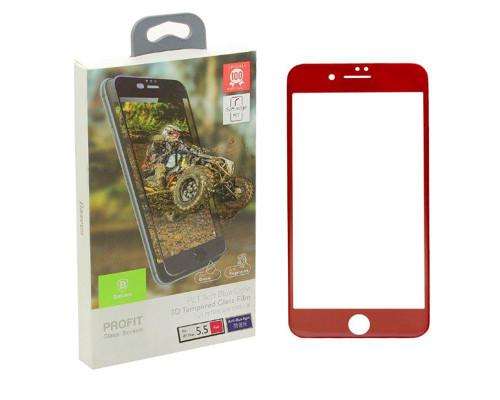 Защитное стекло Baseus для iPhone 7 Plus 3D красное