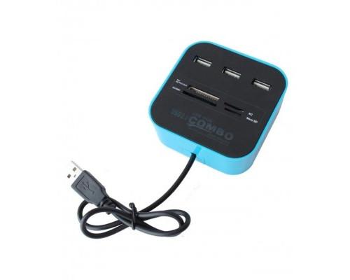 USB-концентратор с универсальным картридером Combo cb-10