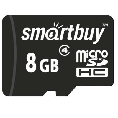 Карта памяти SmartBuy microSDHC Class 4 8gb