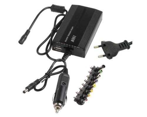 Универсальный блок питания ac/dc 12-24V, 100W с адаптером от сети 220 и авто прикуривателя