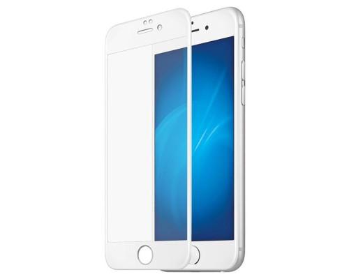 Защитное стекло для iPhone 6 Anti-Microbial (вид — 3D, белая рамка, в комплекте салфетка и стикер)