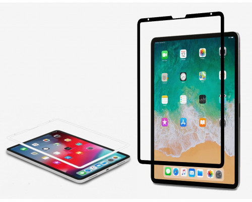 Защитное стекло iPad Pro 11.0 с рамкой