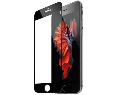 Защитное стекло для iPhone 6 Anti-Microbial (вид — 3D, черная рамка, в комплекте салфетка и стикер)