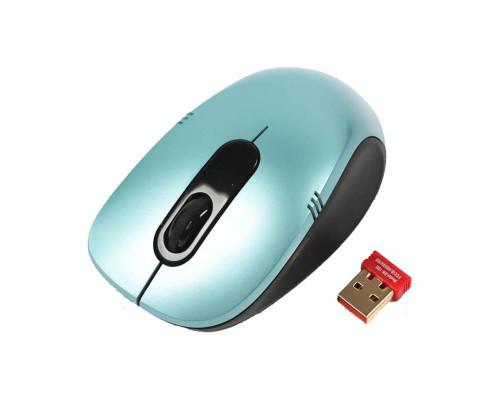 Мышь G9-630-3, беспроводная, голубая