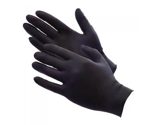 Одноразовые перчатки нитриловые размер M, черные, 2 шт (1 пара)