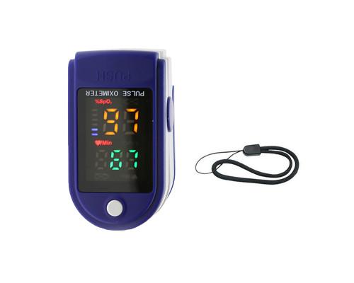 Пульсоксиметр на палец для измерений пульса и кислорода в крови