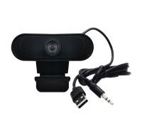 Веб-камера Full HD 1080P со встроенным микрофоном, черная