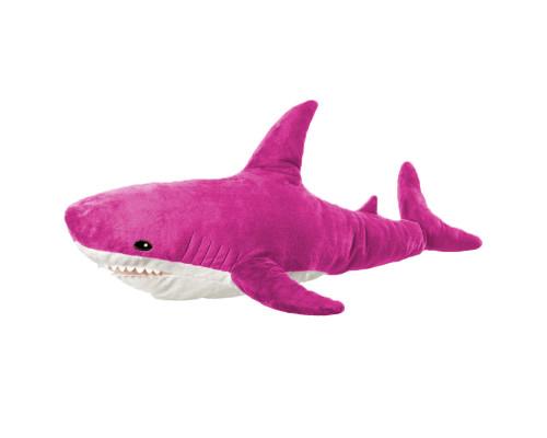 Мягкая игрушка акула 90 см, розовая