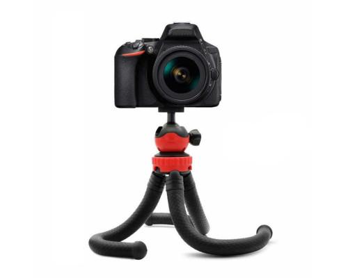 Штатив трипод для телефона и фотоаппарата с прорезиненными гибкими ножками, настольная тренога