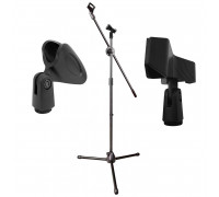 Микрофонная стойка журавль Pro-5 с двумя держателями для микрофона